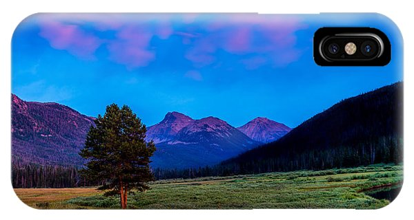 Evening At Christmas Meadows IPhone Case