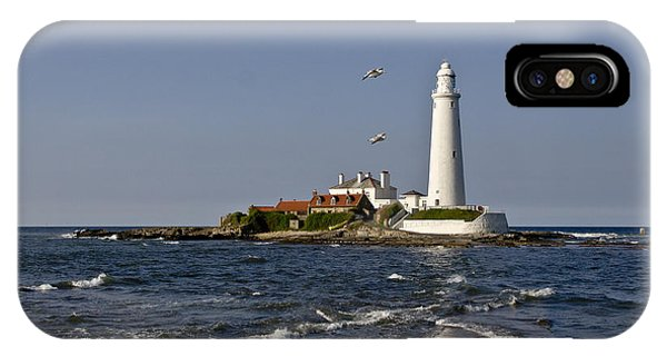 Evening At St. Mary's Lighthouse IPhone Case