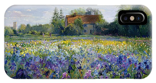 Blue Violet iPhone Case - Evening At The Iris Field by Timothy Easton