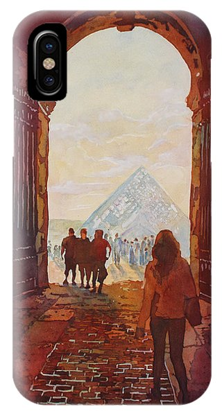 The Louvre iPhone Case - Evening At The Louvre by Jenny Armitage