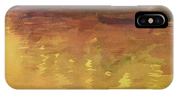 Evening Canoe Ride Phone Case by Walt Maes