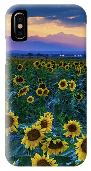 IPhone Case featuring the photograph Evening Colors Of Summer by John De Bord