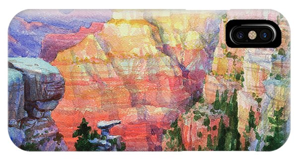 Canyon iPhone Case - Evening Colors  by Steve Henderson