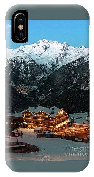 Evening Comes In Courchevel IPhone Case