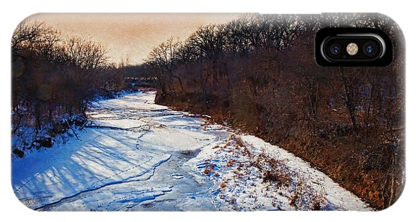 Evening Frozen Creek IPhone Case
