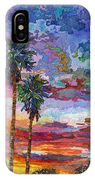 Palm Trees iPhone Case - Evening Glow by Hailey E Herrera