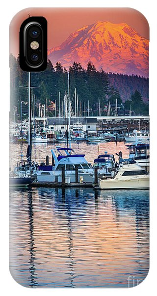 Moor iPhone Case - Evening In Gig Harbor by Inge Johnsson