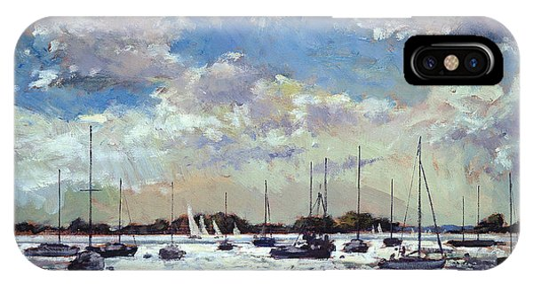 West Bay iPhone Case - Evening Light - Gulf Of Morbihan by Christopher Glanville