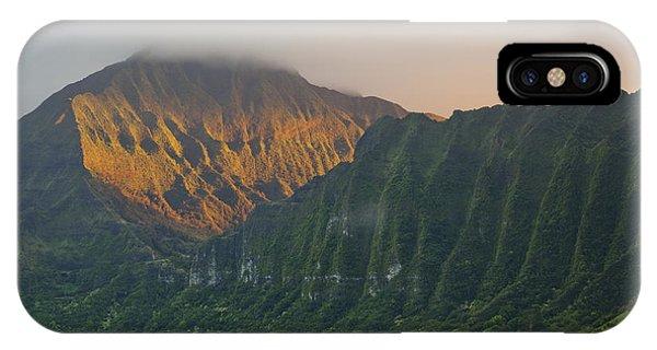 Evening Light On Ko'olau Mountains IPhone Case