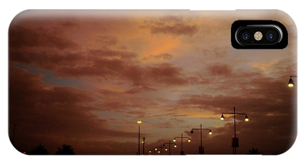 Evening Lights On Road IPhone Case