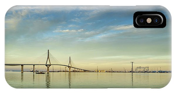 Evening Lights On The Bay Cadiz Spain IPhone Case