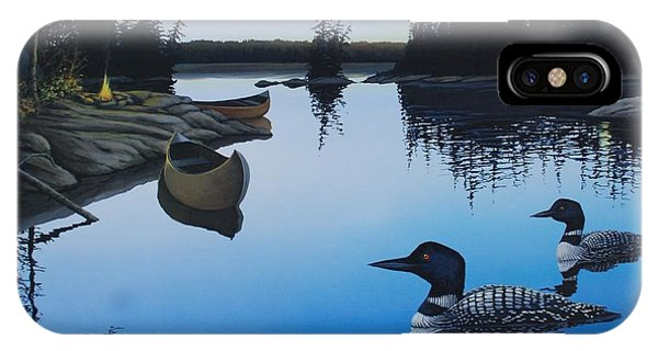 Evening Loons IPhone Case