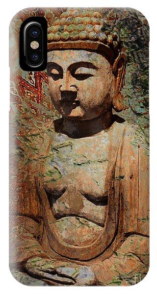 Buddhism iPhone Case - Evening Meditation by Christopher Beikmann