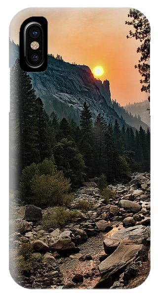 Evening On The Merced River IPhone Case