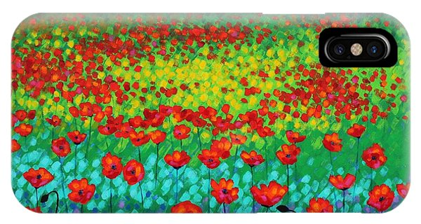 French Impressionism iPhone Case - Evening Poppies by John  Nolan