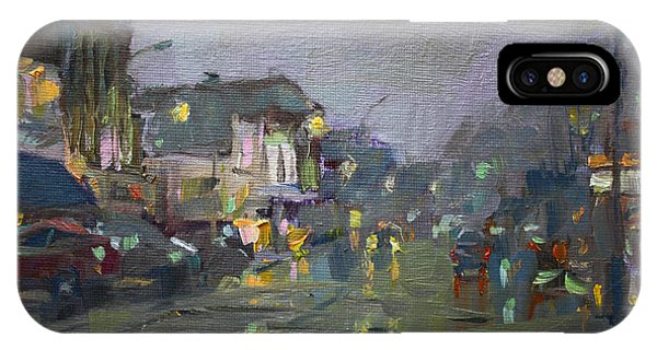 Evening Rain At Webster St IPhone Case