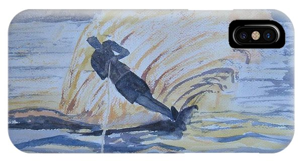 Water Ski iPhone Case - Evening Ski Run by Dodie Davis
