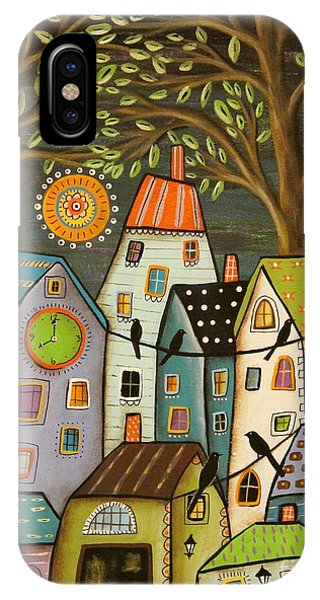 Clock iPhone Case - Evening Song by Karla Gerard