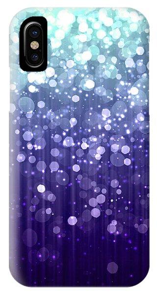Purple Rain iPhone Case - Evening Sparkle Abstract Sparkle Art by Tina Lavoie