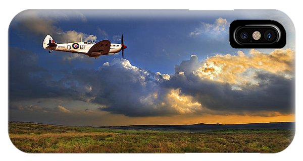 Sky iPhone Case - Evening Spitfire by Meirion Matthias