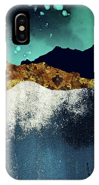 Abstract Landscape iPhone Case - Evening Stars by Katherine Smit