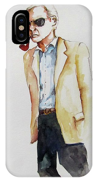 Evening Stroll With Pipe Phone Case by James Huntley
