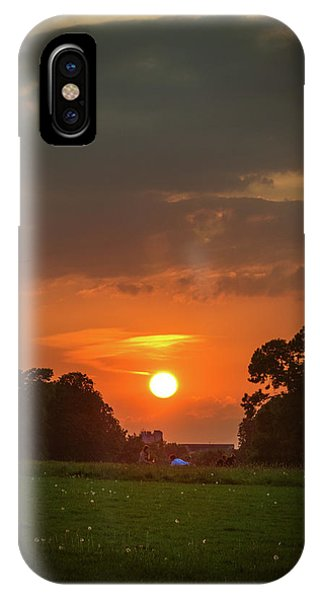 Evening Sun Over Picnic IPhone Case