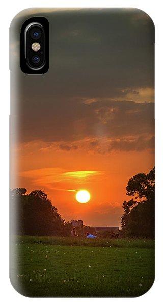 Evening Sun Over Picnic IPhone Case