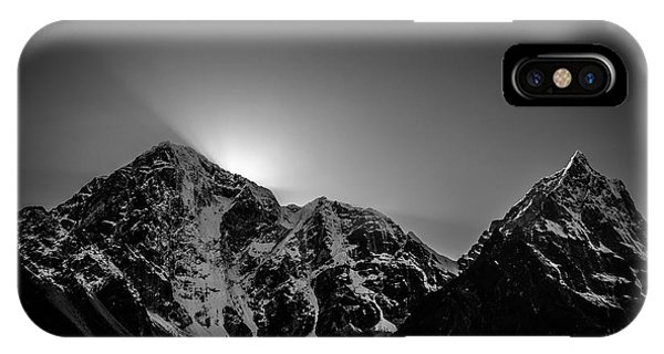IPhone Case featuring the photograph Evening Sunbeams In Pheriche by Owen Weber