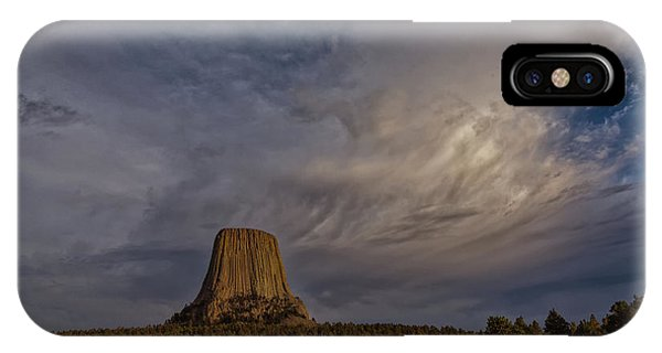 Evening Time At Devils Tower IPhone Case