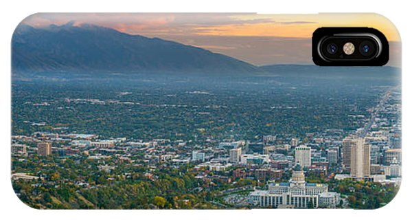 Evening View Of Salt Lake City From Ensign Peak IPhone Case