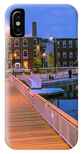 IPhone Case featuring the photograph Evening Walk At Nashawannuck Pond by Sven Kielhorn