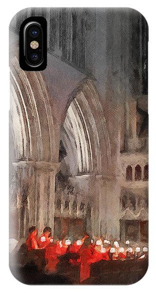 Evensong Practice At Wells Cathedral IPhone Case