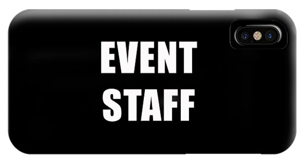 Staff iPhone Case - Event Staff Tee by Edward Fielding