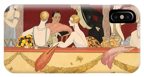 Ostrich iPhone Case - Eventails by Georges Barbier
