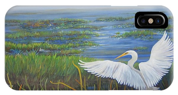 Everglades Egret IPhone Case