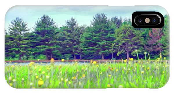 Evergreen Lake - Impressionism IPhone Case
