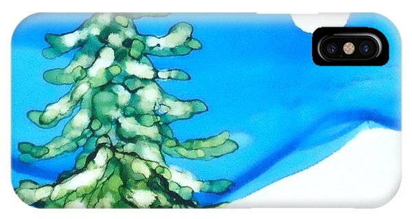 Evergreen Tree In Winter IPhone Case