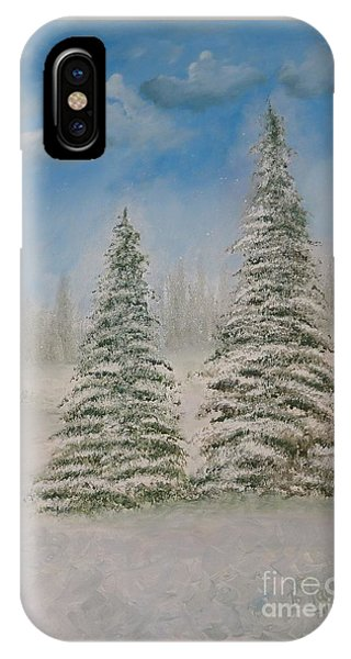 Evergreens In Snow  IPhone Case