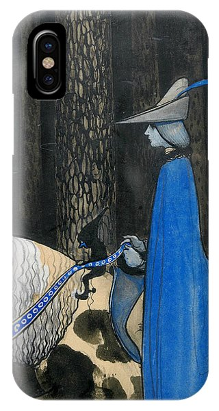 Swedish Painters iPhone Case - Every Now And Then The Plot Took The Reigns by John Bauer