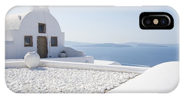 Greece iPhone Case - Everything Is White by Brad Scott