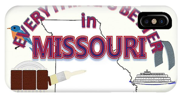 Barbeque iPhone Case - Everything's Better In Missouri by Pharris Art