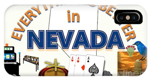 iPhone Case - Everything's Better In Nevada by Pharris Art