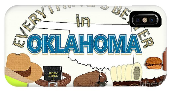 Barbeque iPhone Case - Everything's Better In Oklahoma by Pharris Art