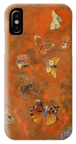 Colourful iPhone Case - Evocation Of Butterflies by Odilon Redon