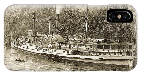 excursion steamer on the hudson river drawing by vintage design pics