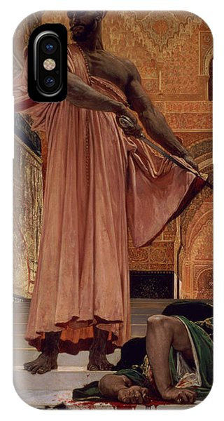 Trial iPhone Case - Execution Without Trial Under The Moorish Kings In Granada by Henri Alexandre Georges Regnault