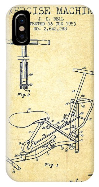 Workout iPhone Case - Exercise Machine Patent From 1953 - Vintage by Aged Pixel