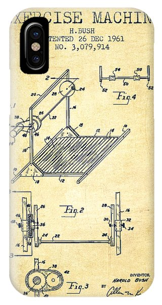 Workout iPhone Case - Exercise Machine Patent From 1961 - Vintage by Aged Pixel