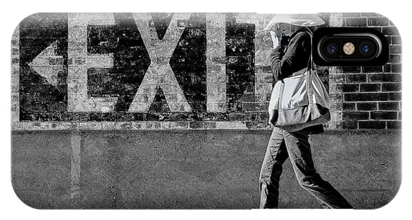 Exit Bw IPhone Case